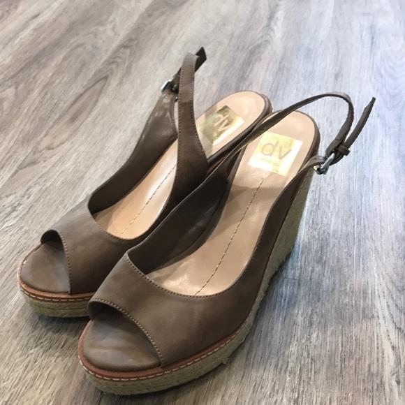 eb1a6389c6 Dolce Vita Shoes   Leather Wedge Sandal Nude Size 8   Poshmark